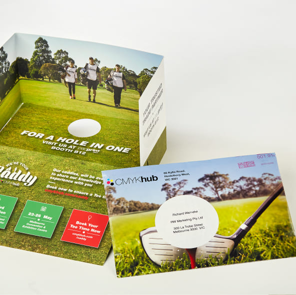 CMYK Caddy promotional material by RW MArketing