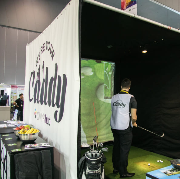 CMYK Caddy golf display