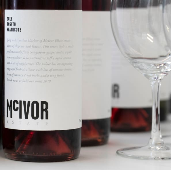 red wine by McIvor Estate